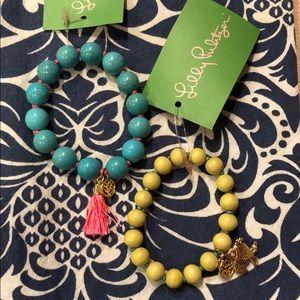 NWT Lilly Pulitzer Beaded Bracelet Set